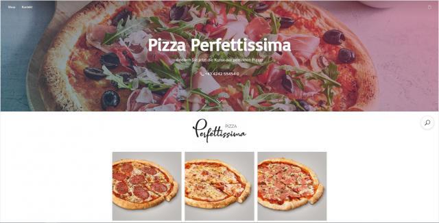 Erstellen Sie Ihren Pizza Perfettissima Online Shop