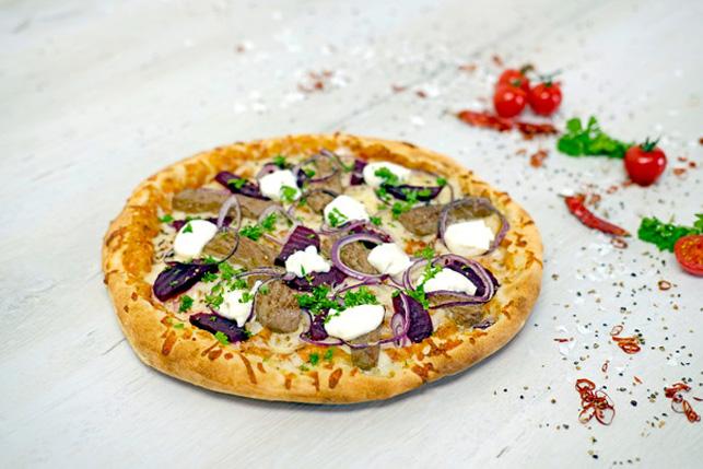 Pizza Bistecca e barbabietola