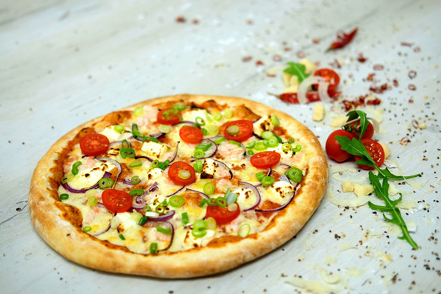 Pizza Feta e Gamberi